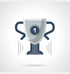 trophy cup flat color icon vector image
