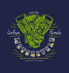 racing club emblem for t-shirt vector image