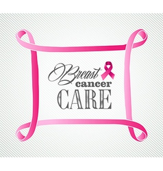 Breast cancer awareness concept frame eps10 file vector
