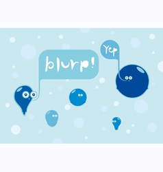 Bubbles conversation vector