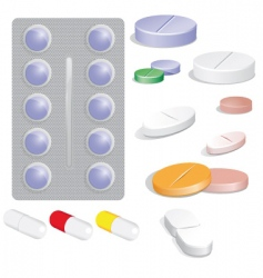 Set of pills vector