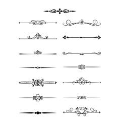Floral vintage dividers elements for page decor vector