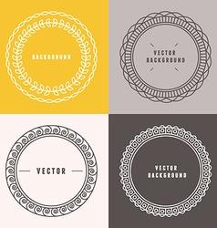set of outline design elements vector image