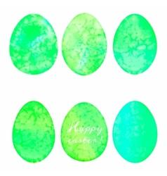 Set of watercolor eggs Easter design elements vector image