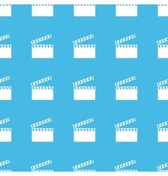 Clapperboard straight pattern vector