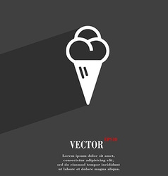 Ice cream icon symbol flat modern web design with vector