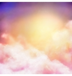 Sunrise sky painting background vector