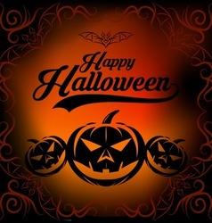 halloween vintage background vector image