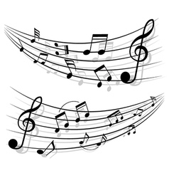 Motion of musical notes vector