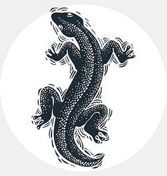 Drawn lizard silhouette nature graphic symbol vector