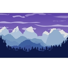 Mountains landscape forest and sky vector