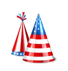 Party hats with flag of the united states of vector