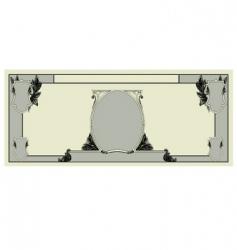 blank dollar template vector image