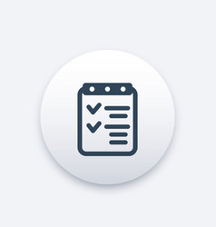 Checklist icon completed tasks achievements vector
