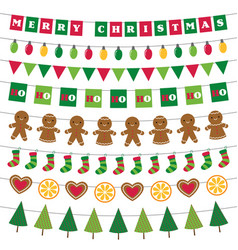 christmas banners and decoration set vector image vector image
