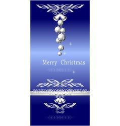 Christmas blue silver vector