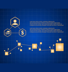 Collection style block chain background vector