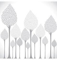 Creative grey tree background vector