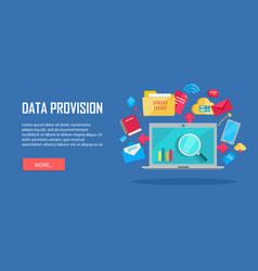 data provision banner vector image