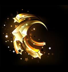 fast golden stars vector image vector image