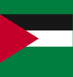 flag of palestine state vector image vector image