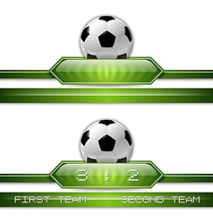 football score vector image