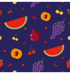 Fruits Background Berries Seamless Pattern vector image vector image