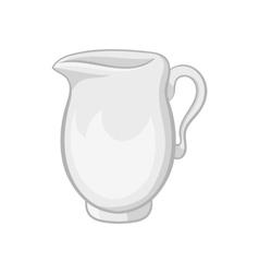 Glass jug icon black monochrome style vector image