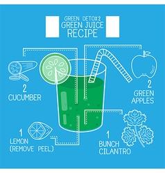 Green juice recipes great detoxifyblue tone vector image vector image