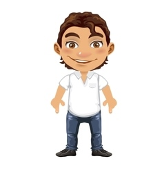 Handsome isolated man in cartoon style vector