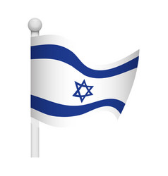 israel of flag vector image