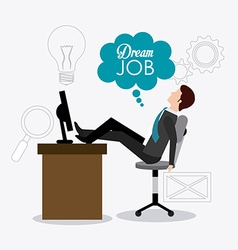 Job digital design vector