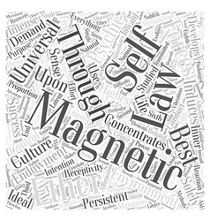 Laws of magnetic development word cloud concept vector