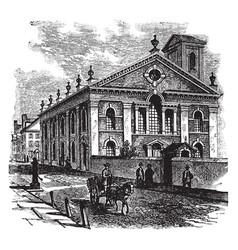 Lutheran church philadelphia vintage vector