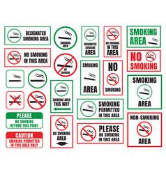 no smoking and smoking area vector image vector image