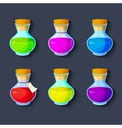 Set of elixirs icon vector