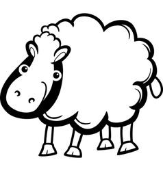 sheep farm animal cartoon for coloring vector image vector image