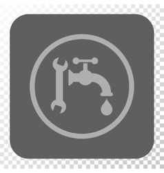 Plumbing rounded square button vector