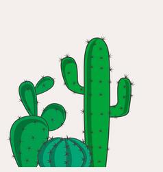 Cactus desert plants vector