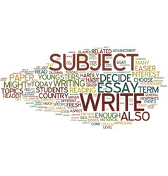 Term paper topics text background word cloud vector