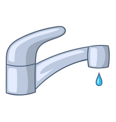 Water faucet icon cartoon style vector