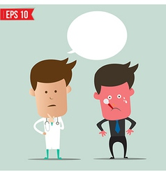 Cartoon doctor and patient - - eps10 vector