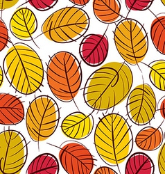 Floral seamless pattern autumn leaves seamless vector
