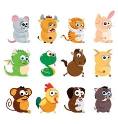 Chinese Zodiac Animals vector image