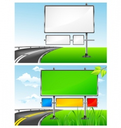 Highway billboards vector
