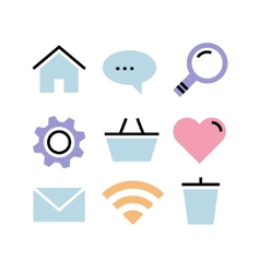 Flat design icons communication vector