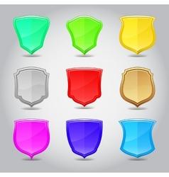 Shield label set vector