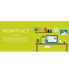 Workplace  flat computing vector