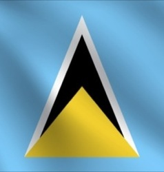 Saint lucia flag vector