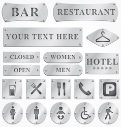 Metal sign plates vector